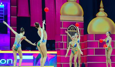 Bakıda keçirilən bədii gimnastika üzrə DÇ-nın son günündən ən maraqlı anlar -