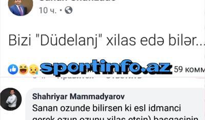 """Şəhriyar Məmmədyarov """"Qarabağ""""ın şanslarının üstündən xətt çəkdi"""