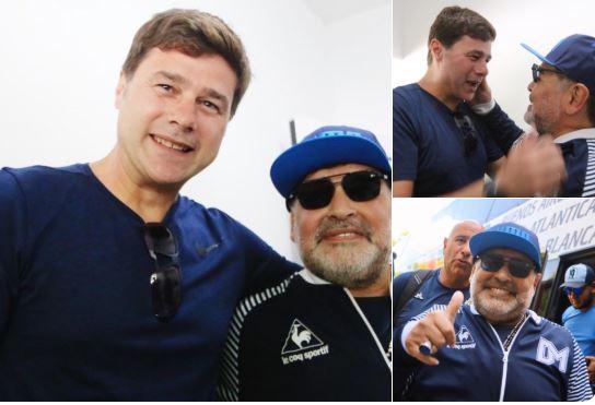 Poçettino keçmiş komanda yoldaşı Maradona ilə görüşdü