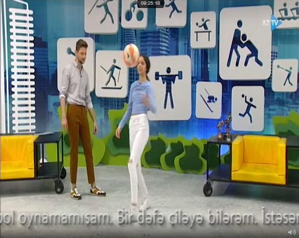 Sportinfo.az aşkarladı, Nigarın qızı AzTV-də futbol oynadı - VİDEO+FOTOLAR