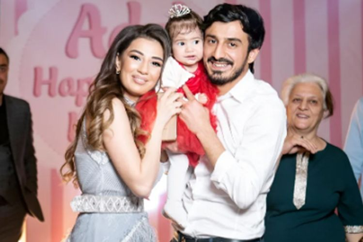 """""""Sabah""""ın Təmkini 1 yaşlı qızının ad günündə - FOTOLAR"""