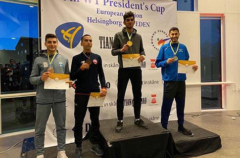 """""""Qəbələ""""li Cavad Ağayev İsveçdə qızıl medal qazandı"""