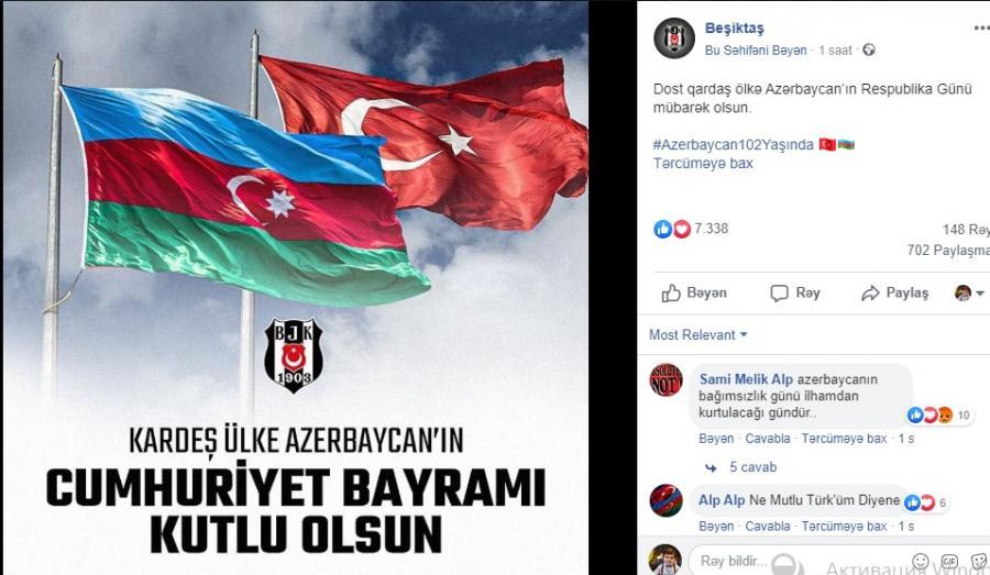 """""""Fənərbaxça"""", """"Beşiktaş"""" və """"Qalatasaray""""dan Azərbaycana jest!"""