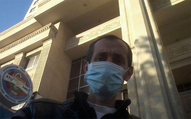 Bakıda idman jurnalisti koronavirusdan sağaldı - FOTO