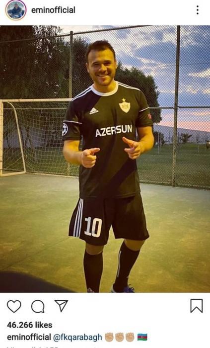 """Emin Ağalarov """"Qarabağ""""ın formasını geyindi - FOTO"""