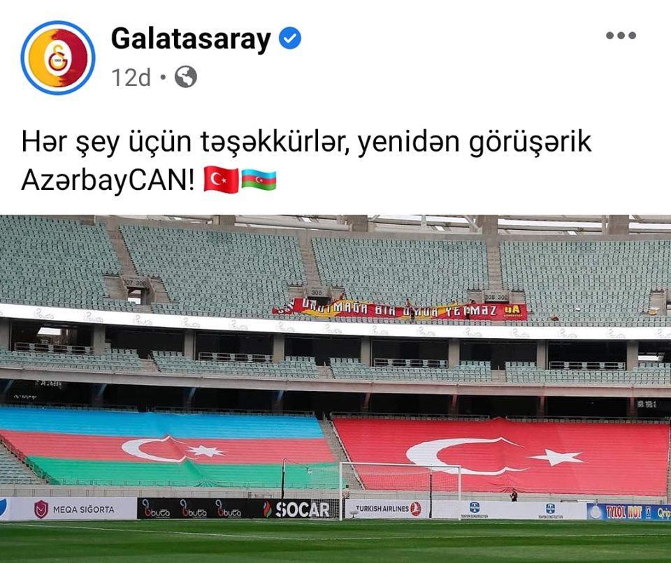 """""""Hər şey üçün təşəkkürlər, yenidən görüşərik, AzərbayCAN!"""""""
