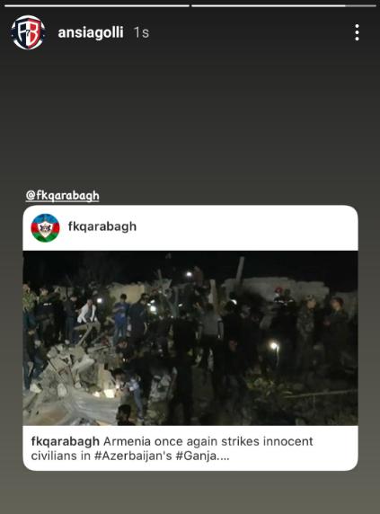 """Sabiq """"Qarabağ""""lı erməni terroruna biganə qalmadı"""