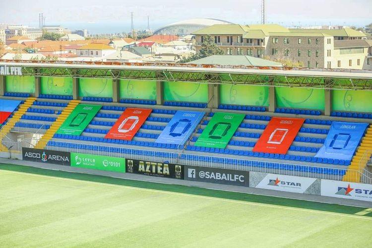 """İşğal altında olan rayonların adları həkk edildi - """"ASCO Arena"""" stadionunun tribunalarına"""