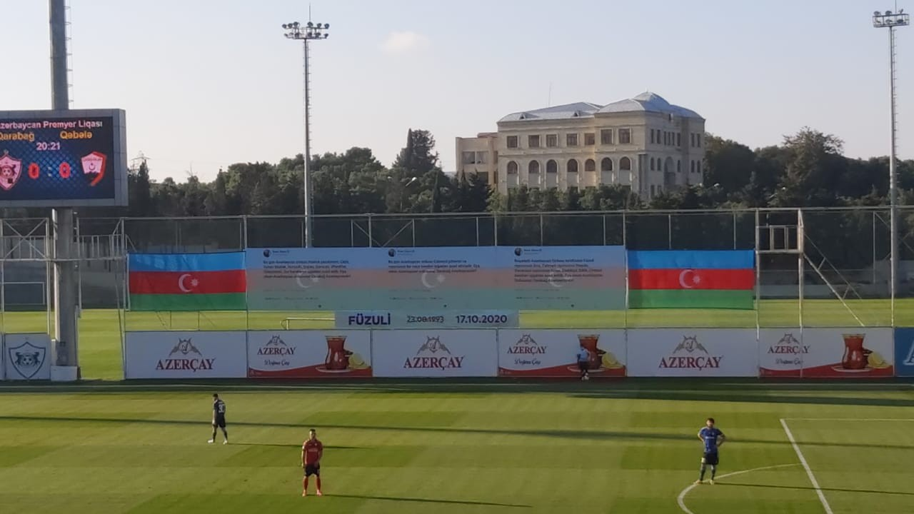 """Prezidentin tvitləri """"Azersun Arena""""nı bəzədi - FOTOLAR"""