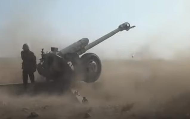 Düşmən mövqelərinə raket-artilleriya zərbələri endirildi - VİDEO