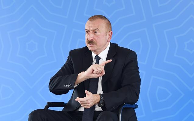 """İlham Əliyev: """"Yığılmışıq boğaza bu danışıqlardan"""""""