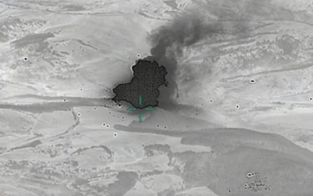 Düşmənin raket-artilleriya silahları anbarı məhv edildi- VİDEO