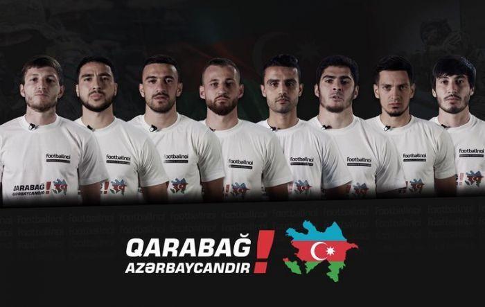 Azərbaycanlı futbolçular Qarabağdakı döyüşlərlə bağlı... - VİDEO