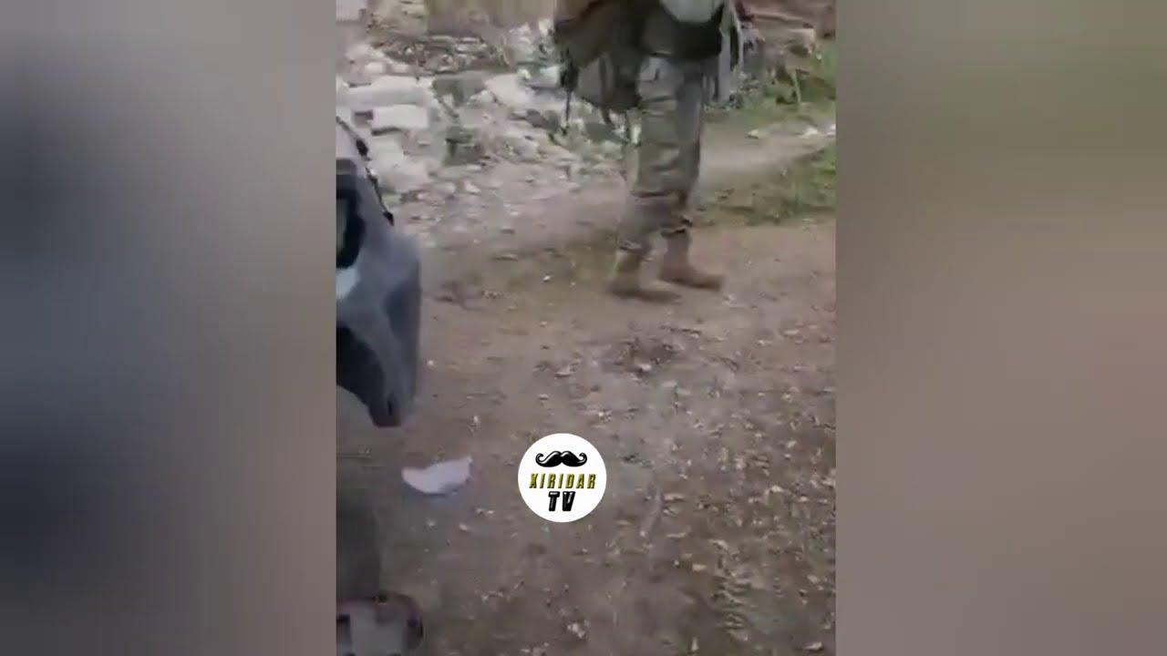 Erməni komandanı əsgərlərimizi görüb, özünü bomba ilə partlatdı - VİDEO