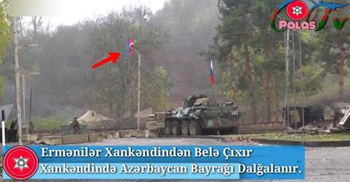 Artıq Xankəndində Azərbaycan bayrağı dalğalanır - VİDEO