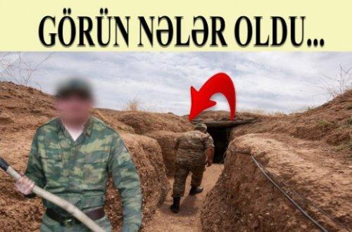 Ermənilər səngərə BUNU TÖKÜRMÜŞLƏR - ŞOK VİDEO!