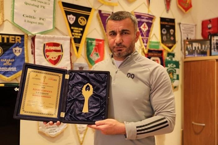 Qurban Qurbanov 2020-ci ilin məşqçisi seçildi - FOTO