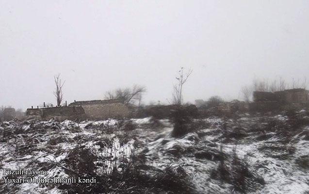 İşğaldan qurtulan Yuxarı Əbdürrəhmanlının VİDEO görüntüləri yayııldı