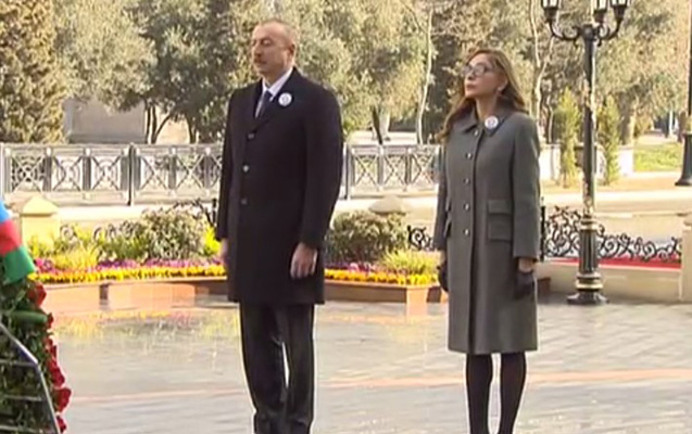 """Prezident xanımı ilə """"Ana harayı"""" abidəsini ziyarət etdi - VİDEO"""