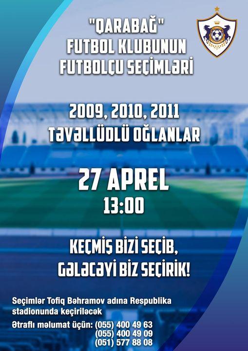 """""""Qarabağ"""" Bakıda başlayır: """"Keçmiş bizi seçib, gələcəyi biz seçirik"""""""