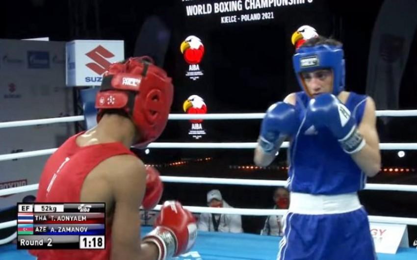 Azərbaycanlı boksçu dünya birinciliyində 1/4 finala yüksəldi