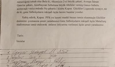 """""""Kəpəz"""" azarkeşlərindən növbəti etiraz addımı"""