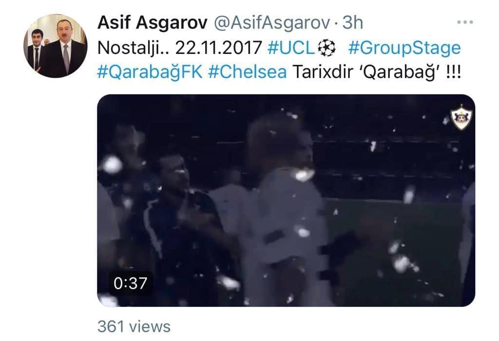 """""""Qarabağ""""ın baş menecerindən TARİXİ VİDEO PAYLAŞIM"""