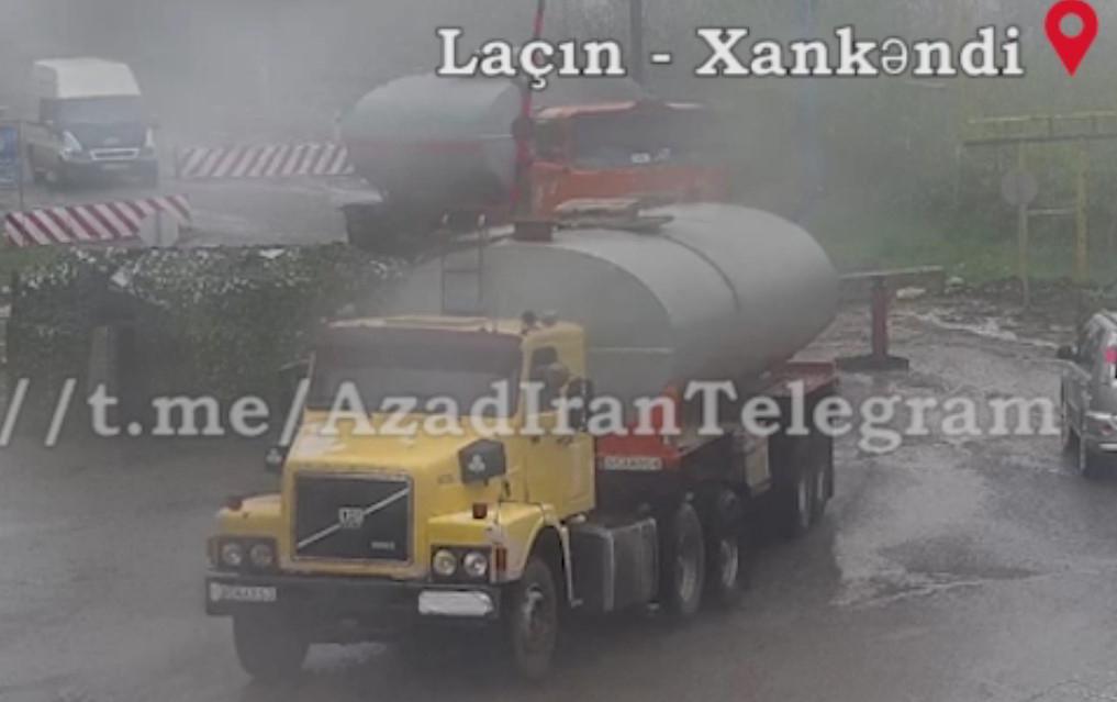 İrandan Laçın dəhlizi vasitəsilə Qarabağa şübhəli yük daşınır - VİDEO