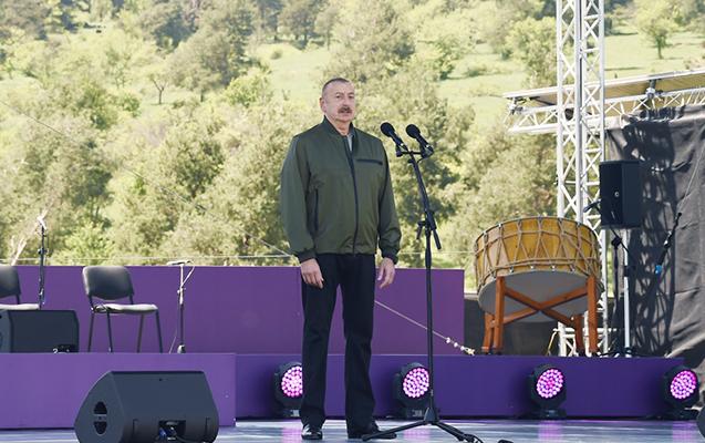 """Prezidentin """"Xarıbülbül"""" festivalında çıxışının tam mətni"""