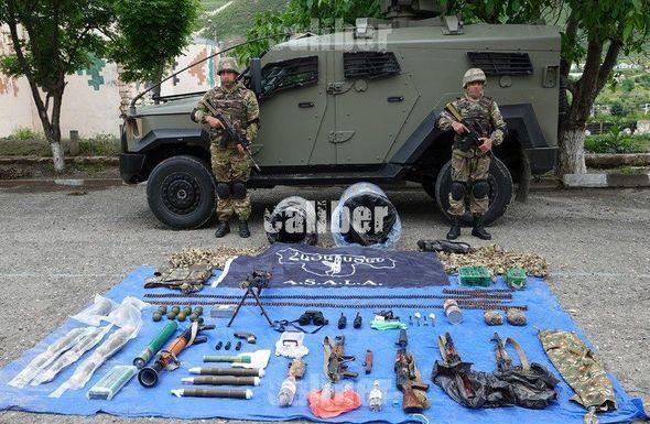 Qarabağda terrorçuların anbarı aşkarlandı - FOTO