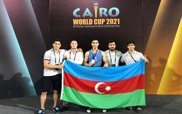 Cavidan Dünya Kubokunda gümüş medal qazandı - FOTO