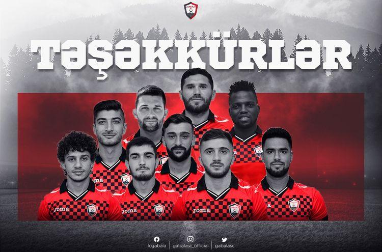 """""""Qəbələ"""" 6 legioner, 6 yerli futbolçu ilə vidalaşdı"""