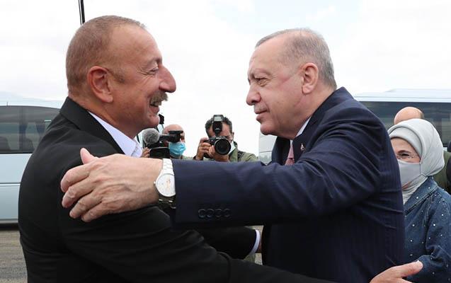 İlham Əliyev Ərdoğanı Füzulidə qarşıladı - FOTOLAR