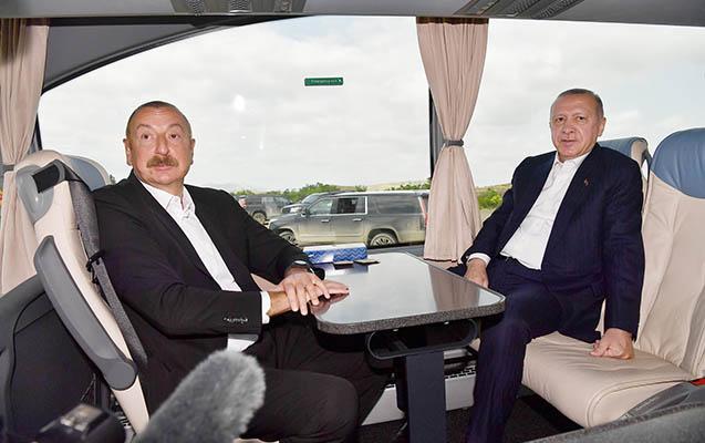 İlham Əliyev Ərdoğanla Füzulini gəziblər - VİDEO+FOTOLAR