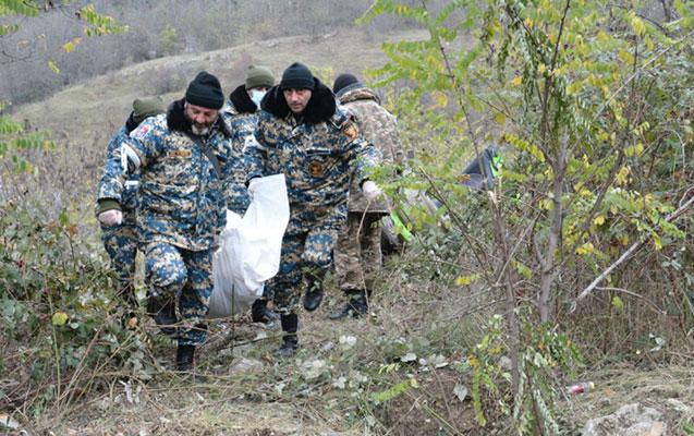 Qarabağda tapılan daha 1 erməni hərbçinin meyitinin qalıqları təhvil verildi