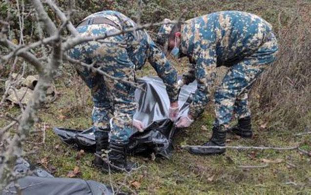 Qarabağda ölən daha 3 erməni hərbçinin meyitinin qalıqları təhvil verildi