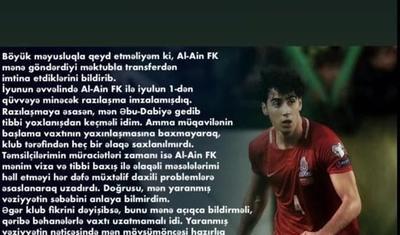 """""""Qarabağ"""" yığmanın müdafiəçisi ilə hansı şərtlərlə anlaşıb?"""
