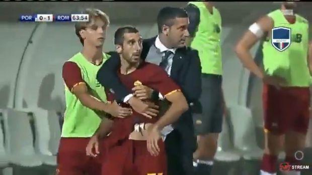 Mourinyo meydanda dava salan erməni futbolçunu dərhal… VİDEO