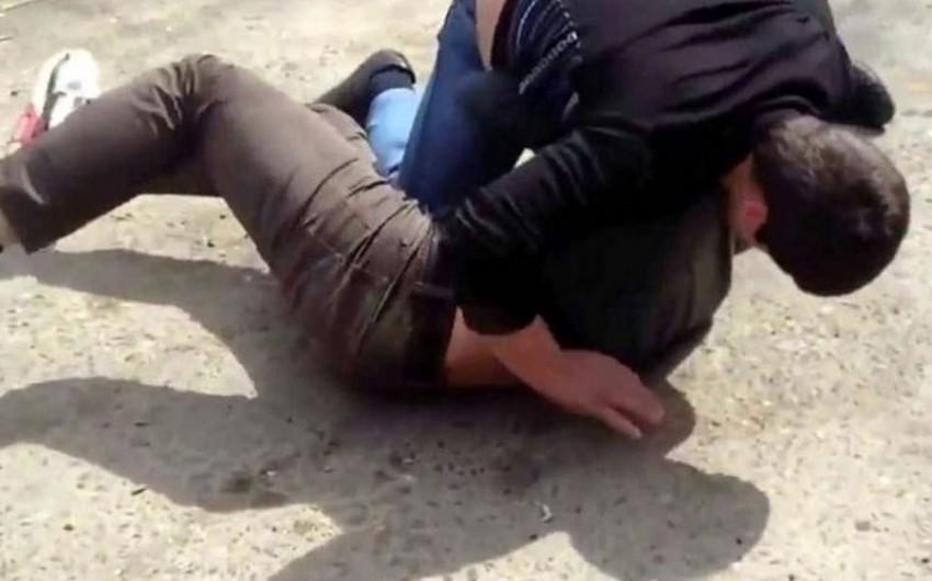 """Erməni idmançı restoranda dava saldı, qızdan sillə """"yedi"""" - VİDEO"""