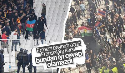 """""""Qalatasaray""""lılar ermənilərə Azərbaycan bayrağı ilə cavab verdi -"""